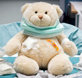 Tedy bear with bandages.